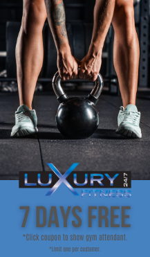 Click Coupon to Show to Gym Attendant for 7 Days Free!